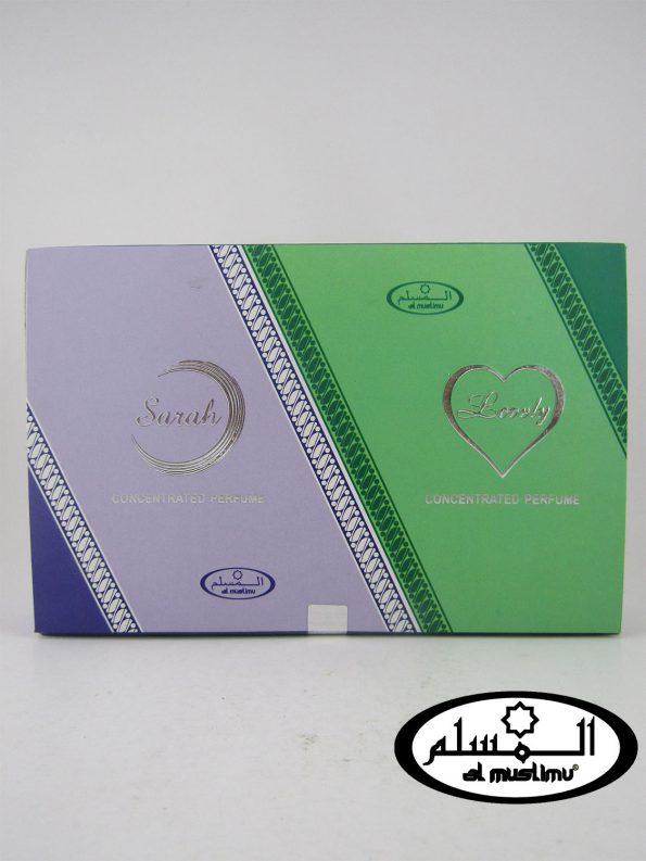Almuslimu Parfum Box (isi 6) Aroma Sarah & Lovely