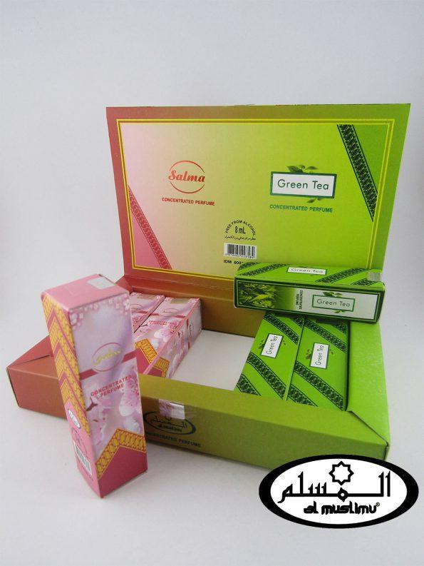 Almuslimu Parfum Box (isi 6) Aroma Salma & Green Tea