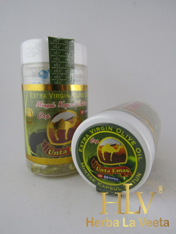 HLV Extra Virgin Olive Oil cap Oenta Emas (minyak zaitun kapsul)